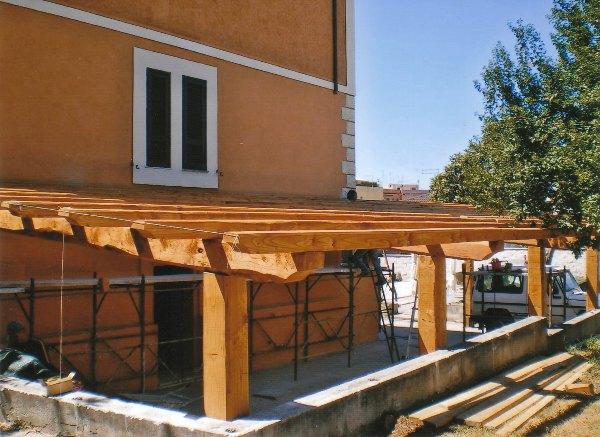 Tettoie anzio nettuno pomezia strutture legno lamellare